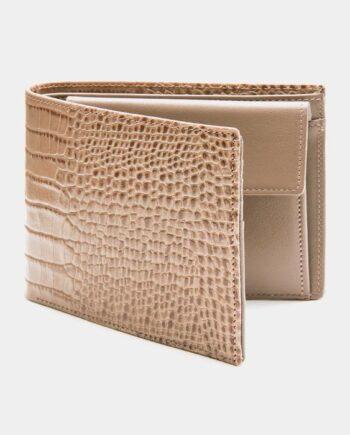 メンズブラウンクロコダイルウォレット財布