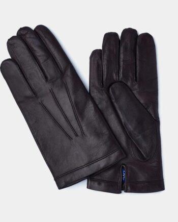 メンズブラックレザーグロブ手袋