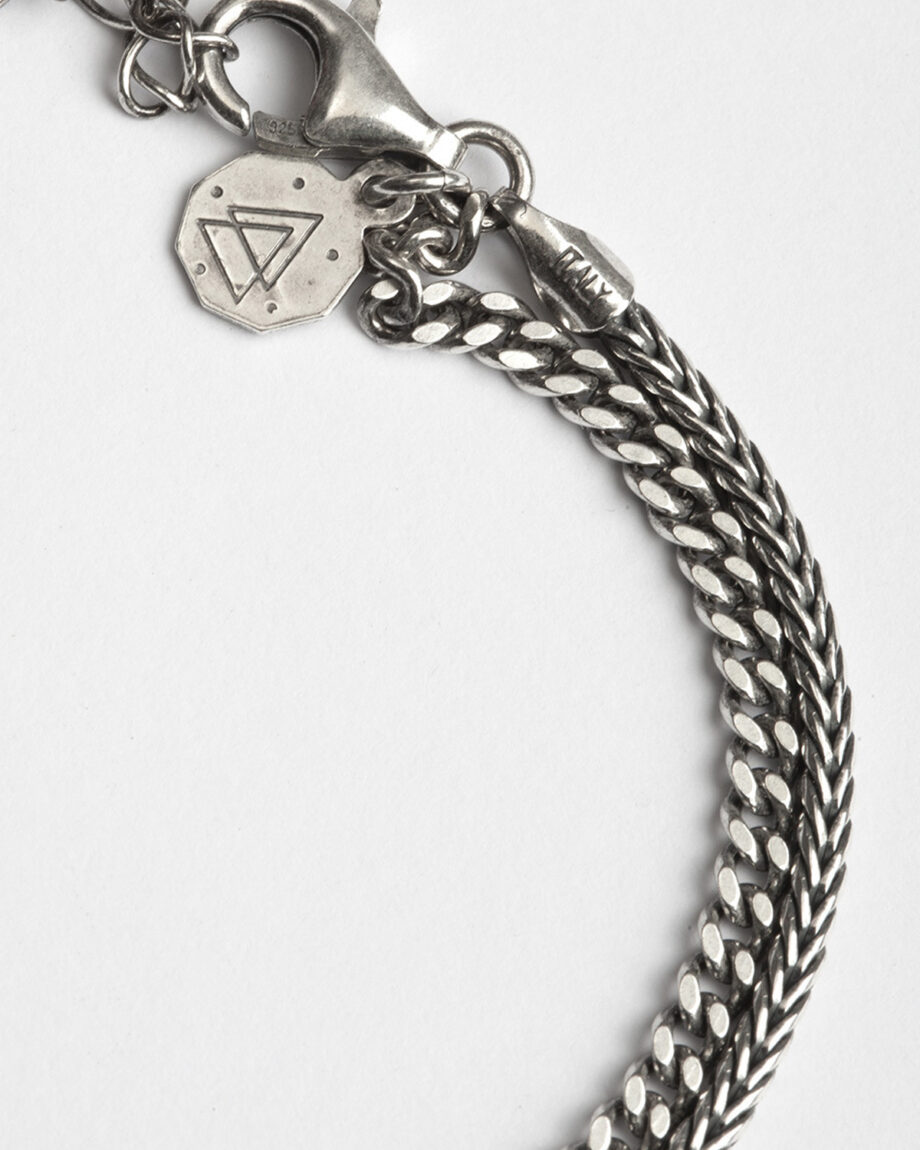two-layers-curb-foxtail-bracelet