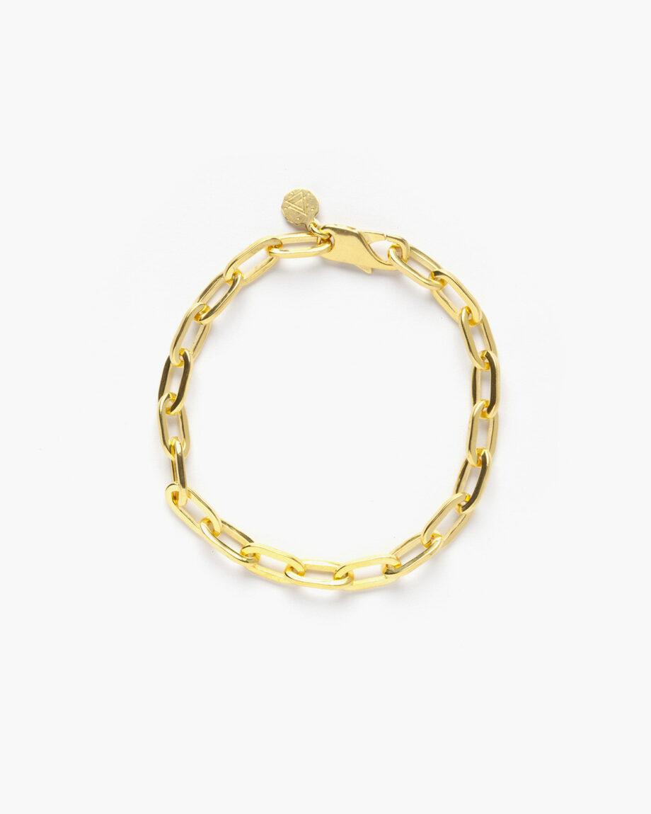yellow-gold-medium-oval-box-chain-bracelet