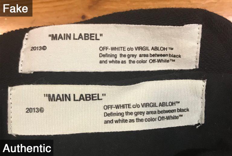 タグにプリントされている文字は手で触るとその文字の感触が分かるように光沢のあるゴム製のものでプリントされています。偽物・フェイク品にはこれがありません。
